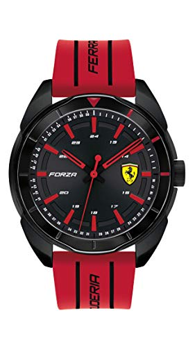 フェラーリ 腕時計 メンズ 【送料無料】Ferrari Men's Forza Quartz Black IP and Silicone Strap Casual Watch, Color: Red (Model: 830544)フェラーリ 腕時計 メンズ