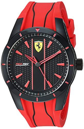 フェラーリ 腕時計 メンズ 【送料無料】Ferrari Men's Redrev Quartz Watch with Silicone Strap, red, 26 (Model: 0830539)フェラーリ 腕時計 メンズ