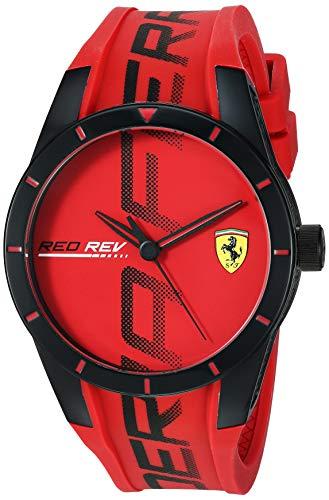 フェラーリ 腕時計 メンズ 【送料無料】Ferrari Men's RedRev Quartz Plastic and Silicone Strap Casual Watch, Color: Red (Model: 830617)フェラーリ 腕時計 メンズ
