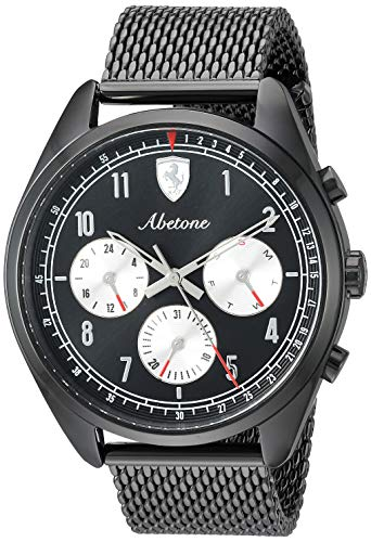 フェラーリ 腕時計 メンズ Ferrari Men's Abetone Quartz Watch with Stainless-Steel Strap, Black, 20 (Model: 0830573)フェラーリ 腕時計 メンズ