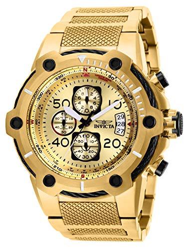 インヴィクタ インビクタ ボルト 腕時計 メンズ Invicta Men's Bolt Quartz Stainless-Steel Strap, Gold, 30 Casual Watch (Model: 28026)インヴィクタ インビクタ ボルト 腕時計 メンズ
