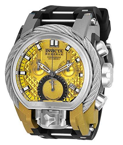 腕時計 インヴィクタ インビクタ ボルト メンズ 【送料無料】Invicta Men's Reserve Stainless Steel Quartz Watch with Silicone Strap, Black, 34 (Model: 26444)腕時計 インヴィクタ インビクタ ボルト メンズ