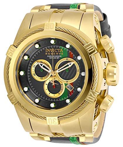 インヴィクタ インビクタ リザーブ 腕時計 メンズ 【送料無料】Invicta Men's Reserve Stainless Steel Quartz Watch with Leather Calfskin Strap, Grey, 30.5 (Model: 29052)インヴィクタ インビクタ リザーブ 腕時計 メンズ