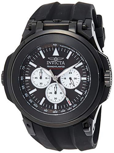 インヴィクタ インビクタ リザーブ 腕時計 メンズ 【送料無料】Invicta Men's Reserve Stainless Steel Quartz Watch with Silicone Strap, Black, 33 (Model: 25928)インヴィクタ インビクタ リザーブ 腕時計 メンズ