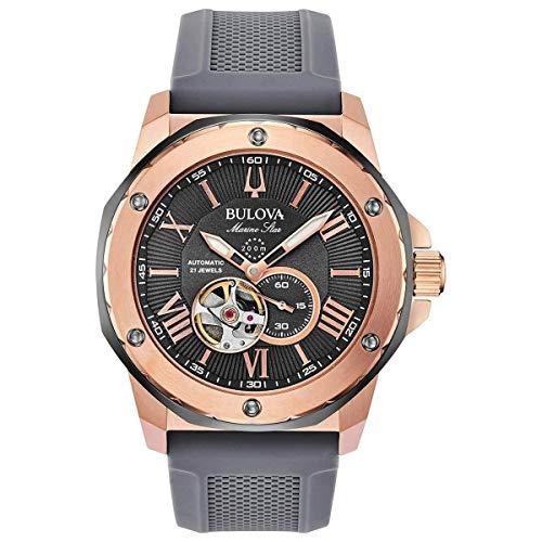 ブローバ 腕時計 メンズ 【送料無料】Men's Bulova Marine Star Automatic Grey Dial Watch 98A228ブローバ 腕時計 メンズ