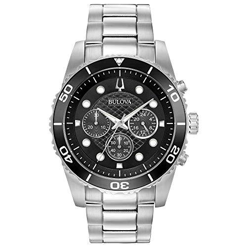 ブローバ 腕時計 メンズ Bulova Men's Sport Collection Black Chronograph Watch (Model: 98A210)ブローバ 腕時計 メンズ