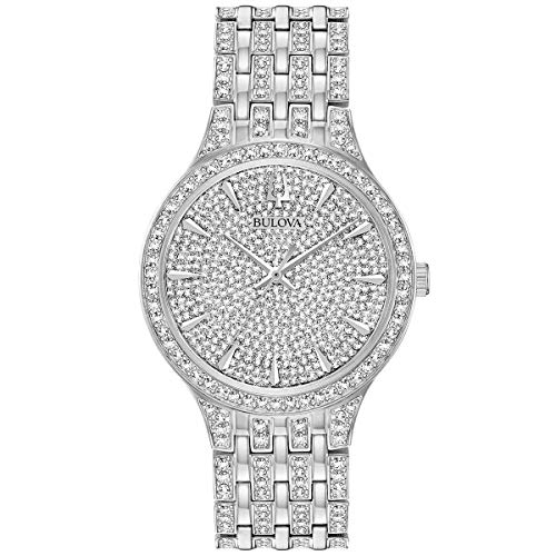ブローバ 腕時計 メンズ Men's Bulova Phantom Silver-Tone Crystal Watch 96A226ブローバ 腕時計 メンズ