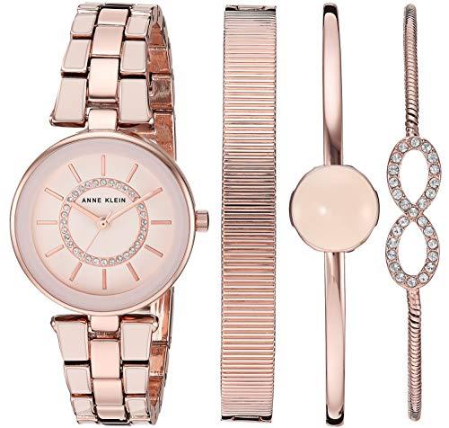 アンクライン 腕時計 レディース 【送料無料】Anne Klein Women's AK/3286LPST Swarovski Crystal Accented Blush Pink and Rose Gold-Tone Watch and Bracelet Setアンクライン 腕時計 レディース