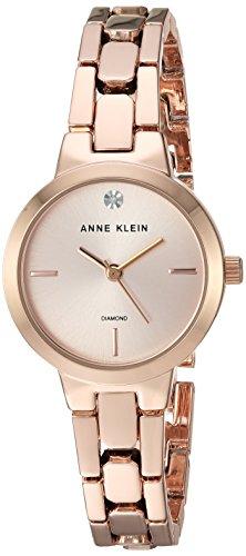アンクライン 腕時計 レディース Anne Klein Women's AK/3234RGRG Diamond-Accented Rose Gold-Tone Bracelet Watchアンクライン 腕時計 レディース