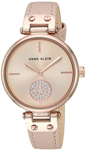アンクライン 腕時計 レディース 【送料無料】Anne Klein Women's AK/3380RGLP Swarovski Crystal Accented Rose Gold-Tone and Blush Pink Leather Strap Watchアンクライン 腕時計 レディース