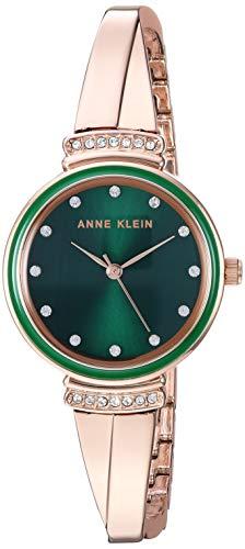 アンクライン 腕時計 レディース 【送料無料】Anne Klein Women's AK/3196GNRG Swarovski Crystal Accented Rose Gold-Tone Bangle Watchアンクライン 腕時計 レディース