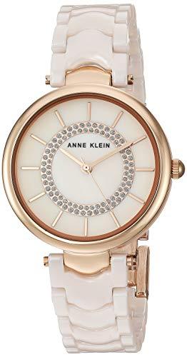 アンクライン 腕時計 レディース Anne Klein Women's AK/3308LPRG Glitter Accented Rose Gold-Tone and Light Pink Ceramic Bracelet Watchアンクライン 腕時計 レディース