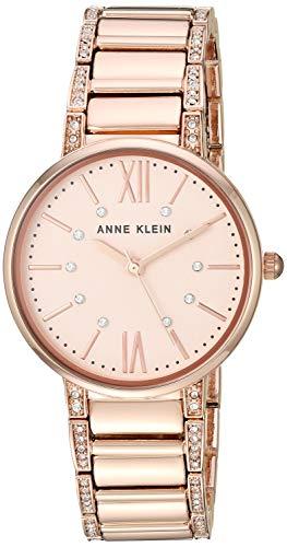 アンクライン 腕時計 レディース Anne Klein Women's AK/3200RGRG Swarovski Crystal Accented Rose Gold-Tone Bracelet Watchアンクライン 腕時計 レディース