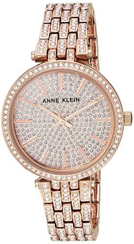 アンクライン 腕時計 レディース 【送料無料】Anne Klein Women's AK/3320PVRG Swarovski Crystal Accented Rose Gold-Tone Bracelet Watchアンクライン 腕時計 レディース