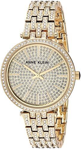 アンクライン 腕時計 レディース 【送料無料】Anne Klein Women's AK/3320PVGB Swarovski Crystal Accented Gold-Tone Bracelet Watchアンクライン 腕時計 レディース