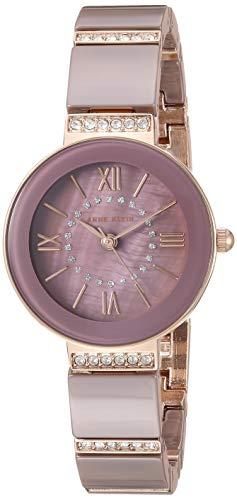 アンクライン 腕時計 レディース 【送料無料】Anne Klein Women's AK/3340MVRG Swarovski Crystal Accented Rose Gold-Tone and Mauve Ceramic Bracelet Watchアンクライン 腕時計 レディース