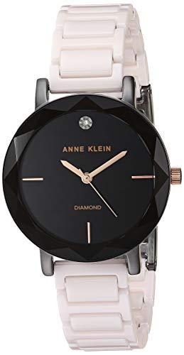 アンクライン 腕時計 レディース 【送料無料】Anne Klein Women's AK/3365GYLP Diamond-Accented Blush Pink Ceramic Bracelet Watchアンクライン 腕時計 レディース