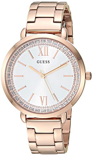 ゲス GUESS 腕時計 レディース GUESS Women's Japanese Quartz Watch with Stainless-Steel Strap, Rose Gold, 15.9 (Model: U1231L3)ゲス GUESS 腕時計 レディース