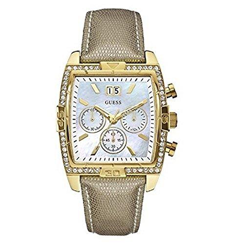 ゲス GUESS 腕時計 レディース 【送料無料】Guess Womens Classic Crystal Multifunction Mother-of-Pearl Dial Gold Tone Watch W0285L2ゲス GUESS 腕時計 レディース