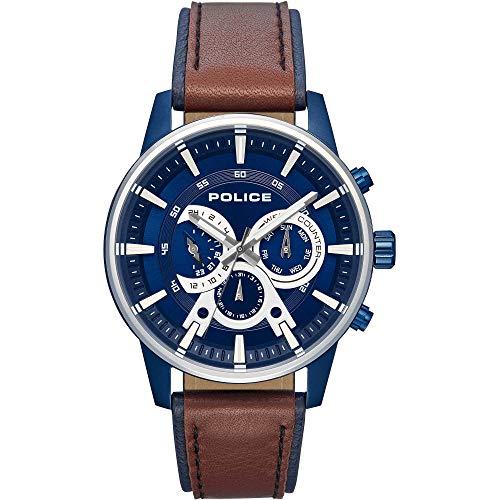 ポリス 腕時計 メンズ 【送料無料】Police Watch R1451306002 Avondale Multi Blue DIAL BROW & Blue STポリス 腕時計 メンズ