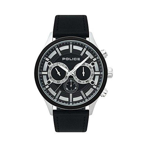ポリス 腕時計 メンズ 【送料無料】Watch Police Controller R1451298001 Men Black Multifunctionポリス 腕時計 メンズ