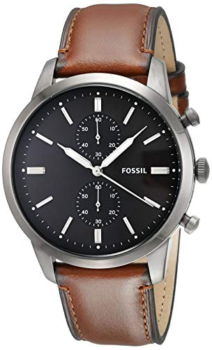 腕時計 フォッシル メンズ 【送料無料】Fossil Men's Townsman Stainless Steel Quartz Watch with Leather Strap, Brown, 22 (Model: FS5522)腕時計 フォッシル メンズ