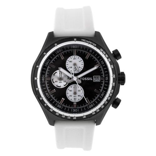 フォッシル 腕時計 メンズ Fossil Men's Quartz Stainless Steel and Silicone Casual Watch, Color:White (Model: CH2778)フォッシル 腕時計 メンズ
