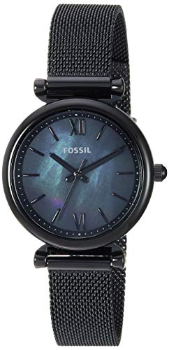 フォッシル 腕時計 レディース Fossil Women Mini Carlie Quartz Stainless Steel and Mesh Casual Watch Color: Black, Black (Model: ES4613)フォッシル 腕時計 レディース