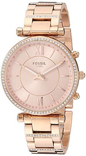 フォッシル 腕時計 レディース 【送料無料】Fossil Women's Hybrid Smartwatch Watch with Stainless-Steel Strap, Rose Gold, 16.1 (Model: FTW5040)フォッシル 腕時計 レディース