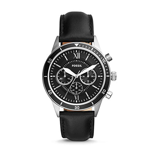 フォッシル 腕時計 レディース Fossil Flynn Sport Chronograph Black Leather Watch BQ2228フォッシル 腕時計 レディース