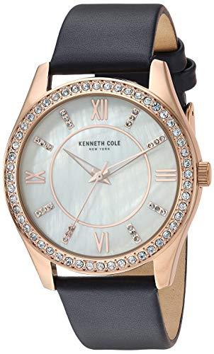 ケネスコール・ニューヨーク Kenneth Cole New York 腕時計 レディース 【送料無料】Kenneth Cole New York Women's Classic Stainless Steel Analog-Quartz Watch with Leather Strap, Blueケネスコール・ニューヨーク Kenneth Cole New York 腕時計 レディース