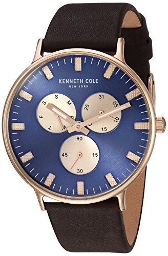 ケネスコール・ニューヨーク Kenneth Cole New York 腕時計 メンズ Kenneth Cole New York Men's Sport' Quartz Stainless Steel and Leather Dress Watch, Color:Brown (Model: KC14946002)ケネスコール・ニューヨーク Kenneth Cole New York 腕時計 メンズ
