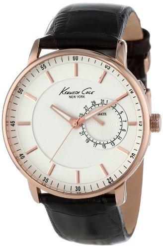 ケネスコール・ニューヨーク Kenneth Cole New York 腕時計 メンズ Kenneth Cole New York Men's Quartz Stainless Steel Case Leather Strap Brown,(Model:KC1780)ケネスコール・ニューヨーク Kenneth Cole New York 腕時計 メンズ