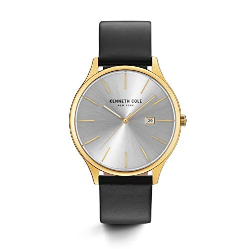 腕時計 ケネスコール・ニューヨーク Kenneth Cole New York メンズ 【送料無料】Kenneth Cole New York Men's 'Classic' Quartz Stainless Steel and Leather Dress Watch, Color:Black (Model: 腕時計 ケネスコール・ニューヨーク Kenneth Cole New York メンズ