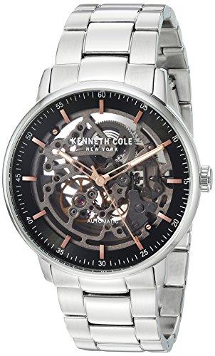 ケネスコール・ニューヨーク Kenneth Cole New York 腕時計 メンズ 【送料無料】Kenneth Cole New York Men's 'Auto' Automatic Stainless Steel Dress Watch, Color:Silver-Toned (Model: KC151ケネスコール・ニューヨーク Kenneth Cole New York 腕時計 メンズ