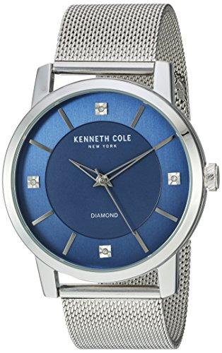 ケネスコール・ニューヨーク Kenneth Cole New York 腕時計 メンズ 【送料無料】Kenneth Cole New York Men's Diamond Quartz Watch with Stainless-Steel Strap, Silver, 22 (Model: KC15105002ケネスコール・ニューヨーク Kenneth Cole New York 腕時計 メンズ