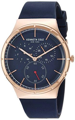 ケネスコール・ニューヨーク Kenneth Cole New York 腕時計 メンズ 【送料無料】Kenneth Cole New York Men's Stainless Steel Analog-Quartz Watch with Silicone Strap, Blue, 22 (Model: KC50ケネスコール・ニューヨーク Kenneth Cole New York 腕時計 メンズ