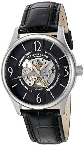 ストゥーリングオリジナル 腕時計 メンズ 【送料無料】Stuhrling Original Men's 'Legacy' Automatic Stainless Steel and Black Leather Dress Watch (Model: 557.02)ストゥーリングオリジナル 腕時計 メンズ