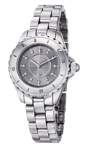 ストゥーリングオリジナル 腕時計 レディース 【送料無料】Stuhrling Original Women's 957S.12112 Leisure Ceramic Austere Quartz Swarovski Crystal Date Silver tone Watchストゥーリングオリジナル 腕時計 レディース