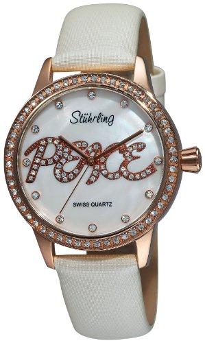 ストゥーリングオリジナル 腕時計 レディース Stuhrling Original Women's 519P.1145P7 Vogue Audrey Peace Swiss Quartz Mother-Of-Pearl Dial Swarovski Crystal White Watchストゥーリングオリジナル 腕時計 レディース