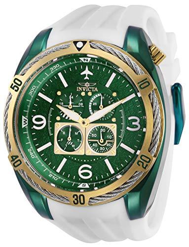 インヴィクタ インビクタ 腕時計 メンズ Invicta Men's Aviator Stainless Steel Quartz Watch with Silicone Strap, White, 32 (Model: 28082)インヴィクタ インビクタ 腕時計 メンズ