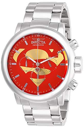インヴィクタ インビクタ 腕時計 メンズ Invicta Men's DC Comics Quartz Stainless-Steel Strap, Silver, 24 Casual Watch (Model: 27605)インヴィクタ インビクタ 腕時計 メンズ