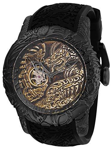 インヴィクタ インビクタ 腕時計 メンズ Invicta Men's S1 Rally Stainless Steel Automatic-self-Wind Watch with Silicone Strap, Black, 26 (Model: 26432)インヴィクタ インビクタ 腕時計 メンズ