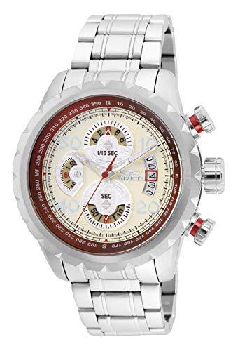 インビクタ 【送料無料】Invicta インビクタ メンズ Strap, インヴィクタ Aviator Silver, 24 (Model: Stainless-Steel メンズ インヴィクタ Watch 腕時計 Quartz Casual 28143)腕時計 Men's