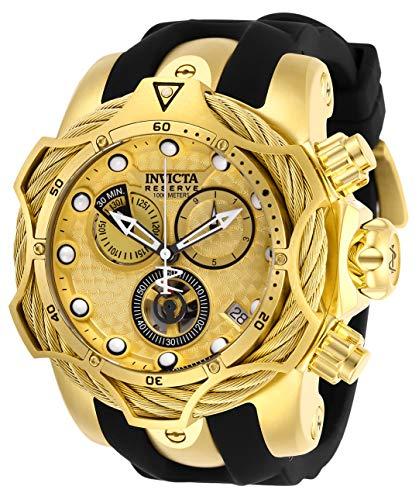 インヴィクタ インビクタ 腕時計 メンズ Invicta Men's Reserve Stainless Steel Quartz Watch with Silicone Strap, Black, 26 (Model: 27708)インヴィクタ インビクタ 腕時計 メンズ