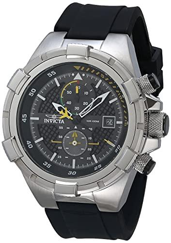 インヴィクタ インビクタ 腕時計 メンズ Invicta Men's Aviator Stainless Steel Analog Quartz Watch with Silicone Strap, Black, 26 (Model: 28102)インヴィクタ インビクタ 腕時計 メンズ