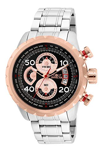 インヴィクタ インビクタ 腕時計 メンズ Invicta Men's Aviator Quartz Stainless-Steel Strap, Silver, 24 Casual Watch (Model: 28147)インヴィクタ インビクタ 腕時計 メンズ