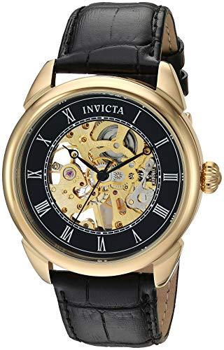 インヴィクタ インビクタ 腕時計 メンズ 【送料無料】Invicta Men's Specialty Stainless Steel Mechanical-Hand-Wind Watch with Leather Strap, Black, 22 (Model: 28811)インヴィクタ インビクタ 腕時計 メンズ