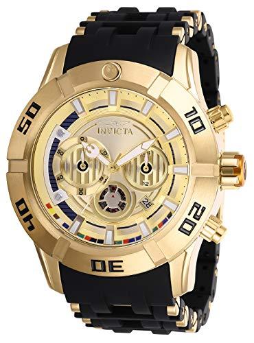 インヴィクタ インビクタ 腕時計 メンズ 【送料無料】Invicta Star Wars Chronograph Gold Dial Two-Tone Men's Watch 26549インヴィクタ インビクタ 腕時計 メンズ