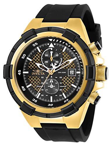 インヴィクタ インビクタ 腕時計 メンズ Invicta Men's Aviator Stainless Steel Quartz Watch with Silicone Strap, Black, 26 (Model: 28100)インヴィクタ インビクタ 腕時計 メンズ